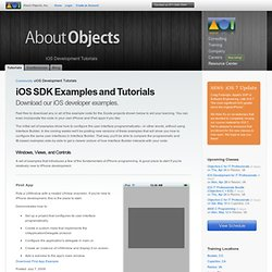 iPhone SDK Examples and Tutorials - About Objects
