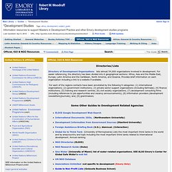 Official, IGO & NGO Resources - Development Studies - Guides at Emory University - Main Library (Woodruff)