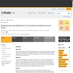 Development and Validation of a Smartphone Addiction Scale (SAS)