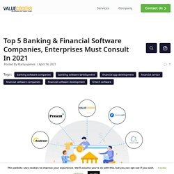 Top 5 Banking & Financial Software Development Companies