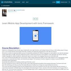 Learn Mobile App Development with Ionic Framework: vernonemrit