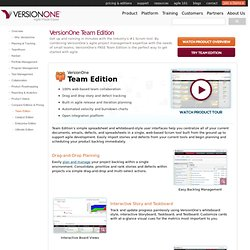 Agile and Scrum Tools - Team Edition | VersionOne