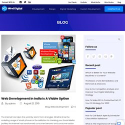 Web Development In India Is A Viable Option