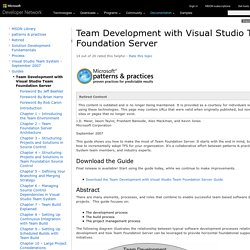 team development with VSTS
