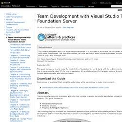 team development with VSTS