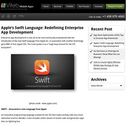 Apple's Swift Language: Redefining Enterprise App Development