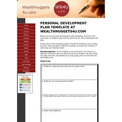 A Personal Development Plan Template