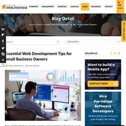 Web Development Tips for Small Business Owners