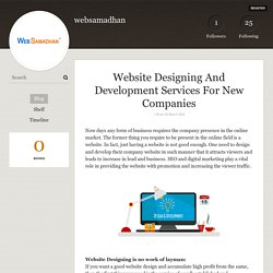 Website Designing And Development Services For New Companies - websamadhan