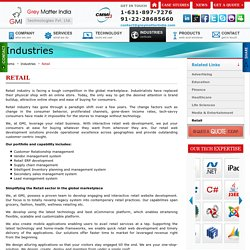 Retail web development and Retail Website Design & Development Company - GMI