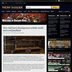 New raid team development website needs users and feedback
