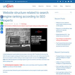 In Web development Website structure affect search engine ranking