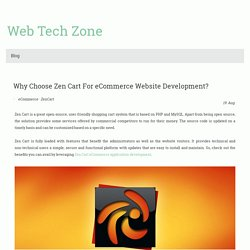Why Choose Zen Cart For eCommerce Website Development?