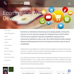 Ecommerce Websites Development Company India – WiseRetail