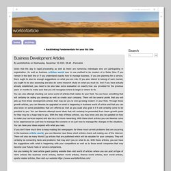 Business Development Articles