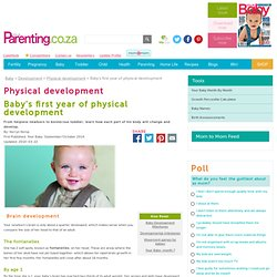 Baby's first year of physical development