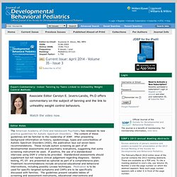 Journal of Developmental & Behavioral Pediatrics