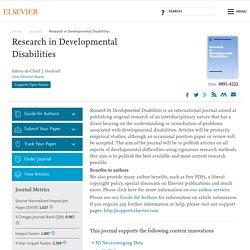 Research in Developmental Disabilities