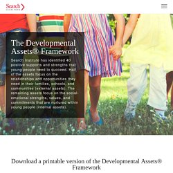 The Developmental Assets Framework