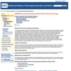 Pervasive developmental disorders essay