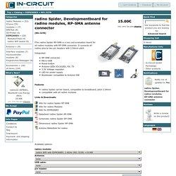 radino Spider, Entwicklungsboard für radino Module, mit RP-SMA Antennenanschluß, In-Circuit Online Shop
