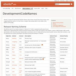 DevelopmentCodeNames