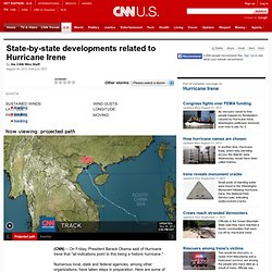 State-by-state developments related to Hurricane Irene