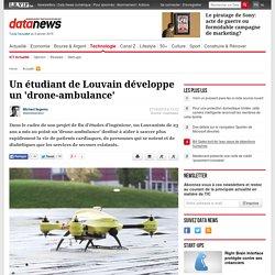 Un étudiant de Louvain développe un 'drone-ambulance'
