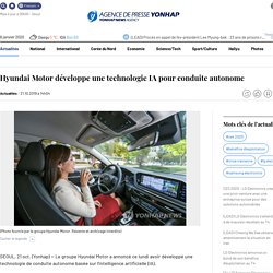 Hyundai Motor développe une technologie IA pour conduite autonome