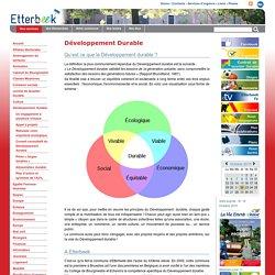 Développement Durable — Administration communale - Etterbeek