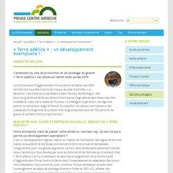 « Terre adélice » : un développement exemplaire ! - Communauté d'Agglomération Privas Centre Ardèche