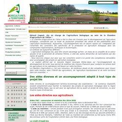 CHAMBRE D AGRICULTURE DE L ALLIER 08/02/17 La Chambre d'agriculture de l'Allier accompagne les agriculteurs bio et en projet de conversion