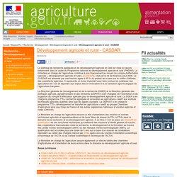 Développement agricole et rural - CASDAR
