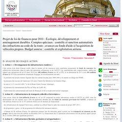 Projet de loi de finances pour 2011 : 4. Action 12 : « Entretien et exploitation du réseau routier national