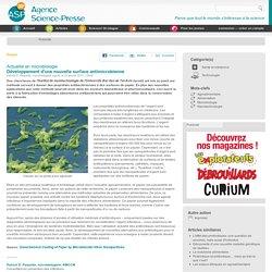 Développement d'une nouvelle surface antimicrobienne