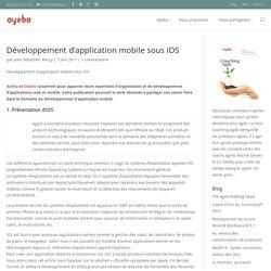 Développement d'application mobile sous iOS
