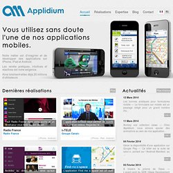 Applidium — Accueil — Développement d'applications iPhone et iPad