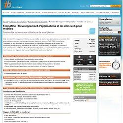 Développement d'applications et de sites web pour mobiles ib