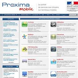 Proxima Mobile : applications et services gratuits sur téléphone mobile pour les citoyens