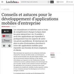 Conseils et astuces pour le développement d'applications mobiles d'entreprise