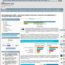Développement mobile : quel est le meilleur choix pour concevoir ses applications ? Une approche HTML5, native ou hybride ?