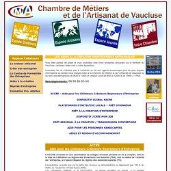 CMA 84 : Les aides à la création d'entreprises artisanales - création d'entreprise, développement, apprentissage, formation continue, conseil…