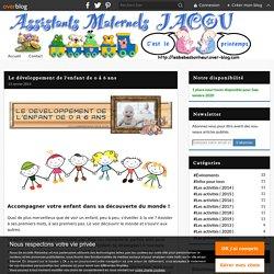 Le développement de l'enfant de 0 à 6 ans - Assistante Maternelle JACOU