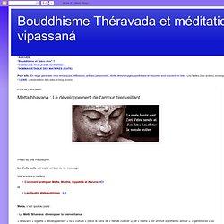 Metta bhavana : Le développement de l'amour bienveillant