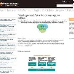 Développement Durable : du concept au réflexe — BravoSolution - Conseil Achat, Performance Achat, Système d'information Achats et Outsourcing