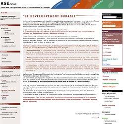 RSE & développement durable, rapport Brundtland