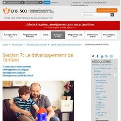 Section 7: Le développement de l'enfant