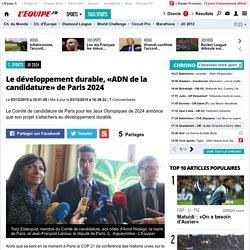 JO 2024 - Le développement durable, «ADN de la candidature» de Paris 2024