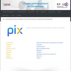 Pix - Plateforme de développement et de certification des compétences numériques
