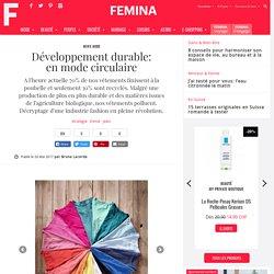 Développement durable: en mode circulaire